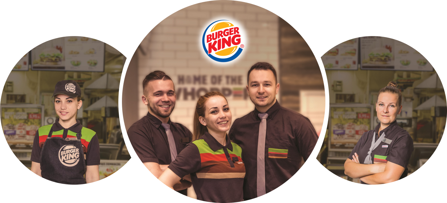 Pracownik restauracji Burger King w Galerii Krakowskiej