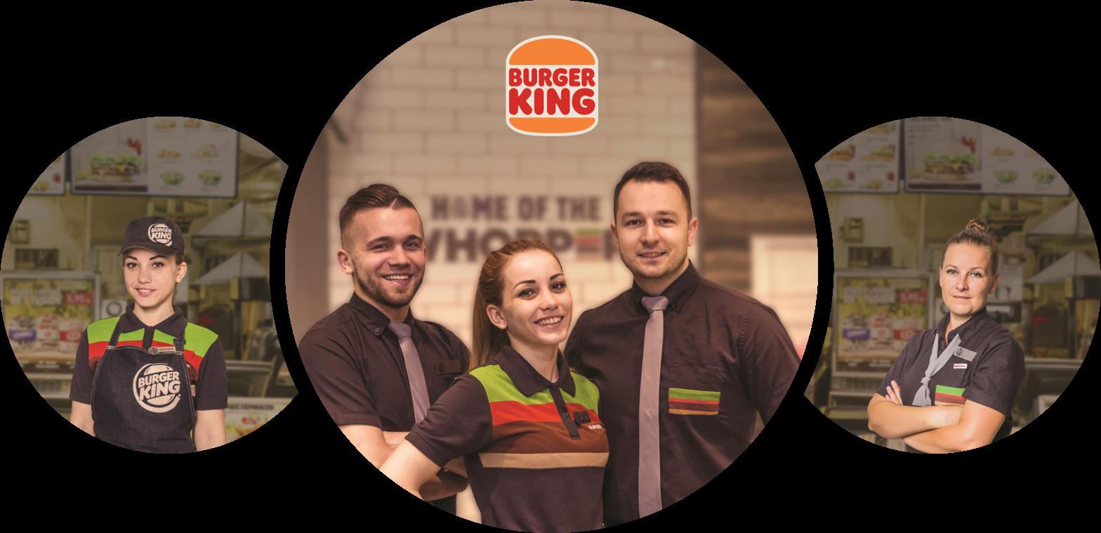 Pracownik restauracji Burger King  na Bielanach Wrocławskich