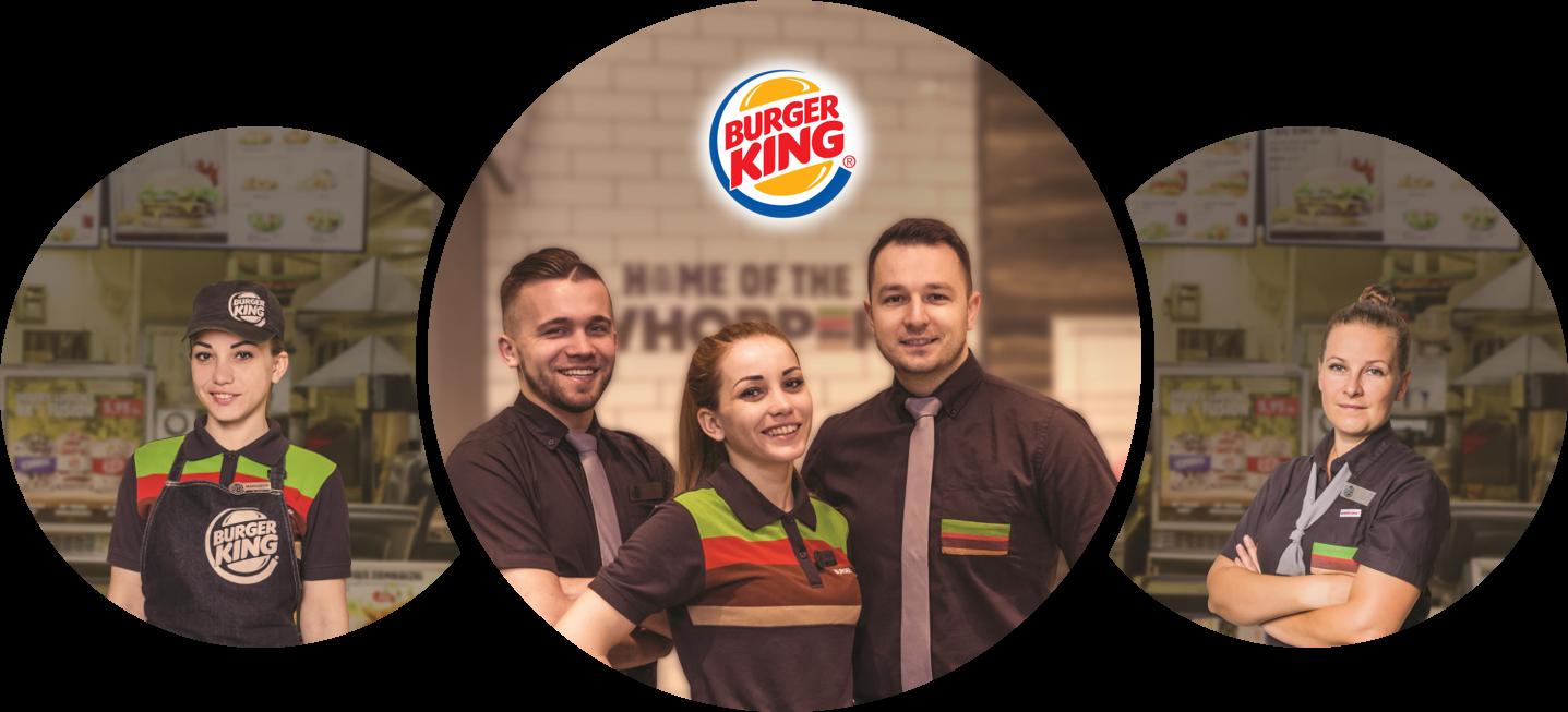 Pracownik restauracji Burger King  w Molo